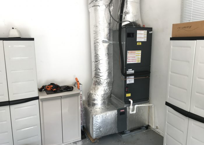 A Goodman air handler (indoor sewction of a heat pump)  that we installed.