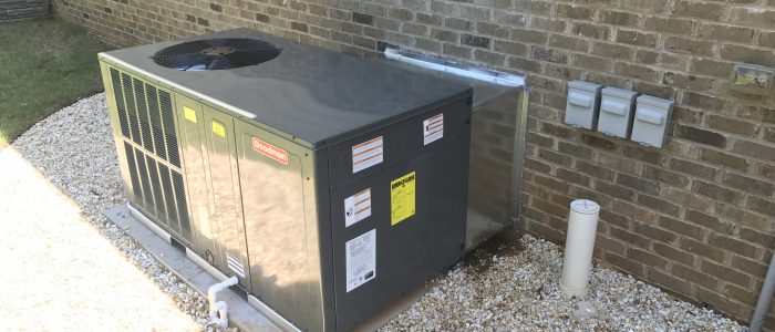 A Goodman  packaged heat pump that we installed for a Vonore customer..
