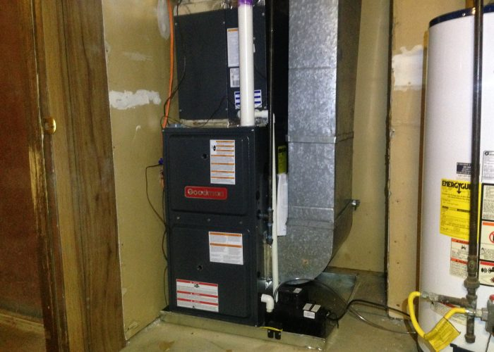 A Goodman gas furnace and air conditioning system that we installed for a Maryville customer.
