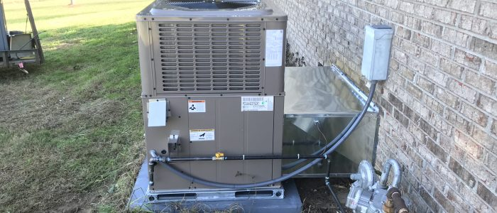 A Coleman gas packaged AC that we installed for a Greenback customer..